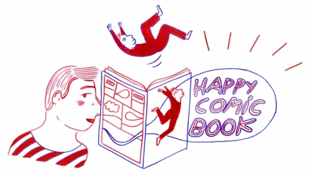 Happy comic book