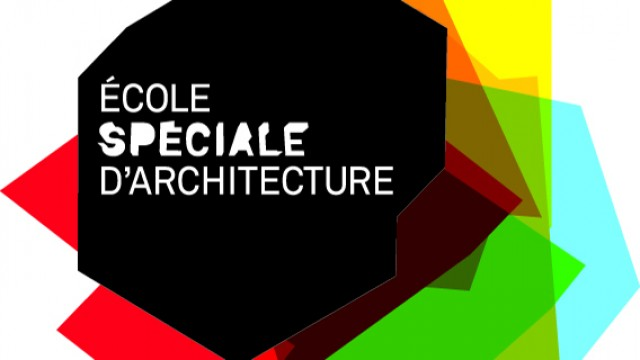 Student exhibition from the Ecole Spéciale d'Architecture architecture school
