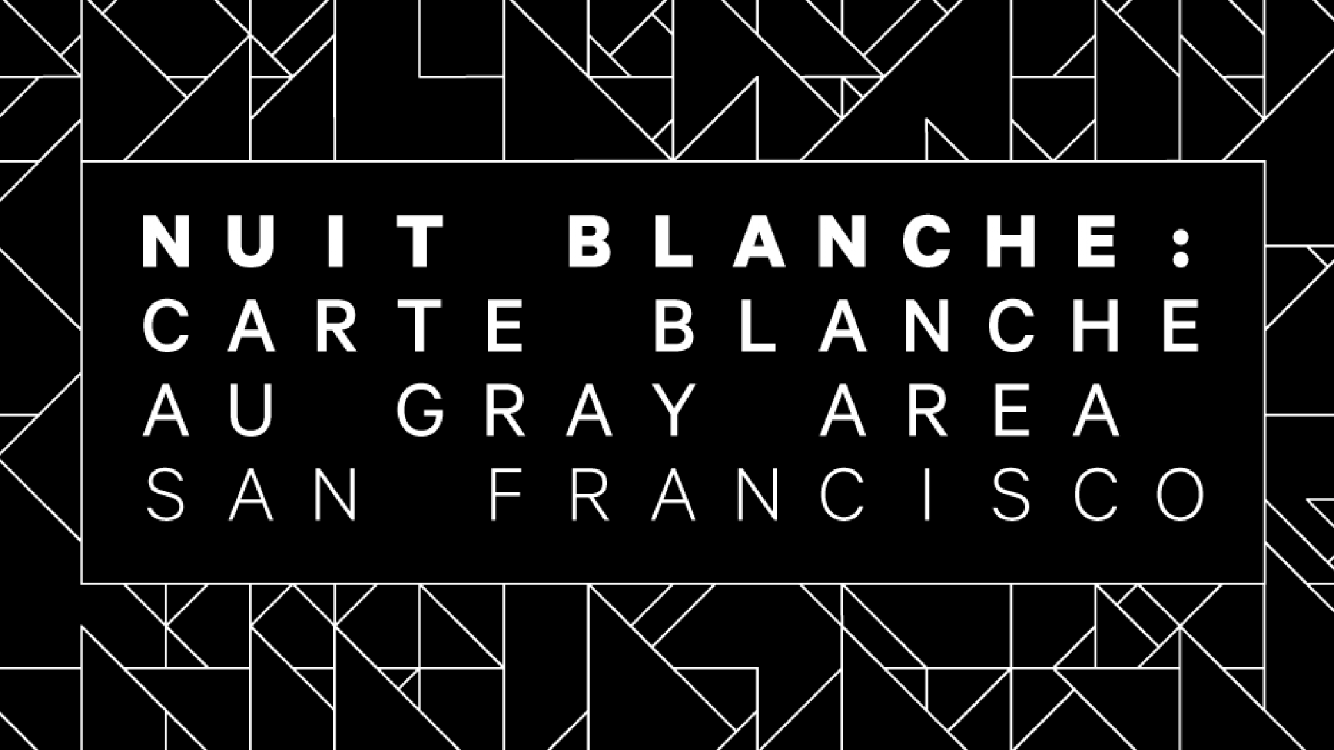 Nuit blanche 2019